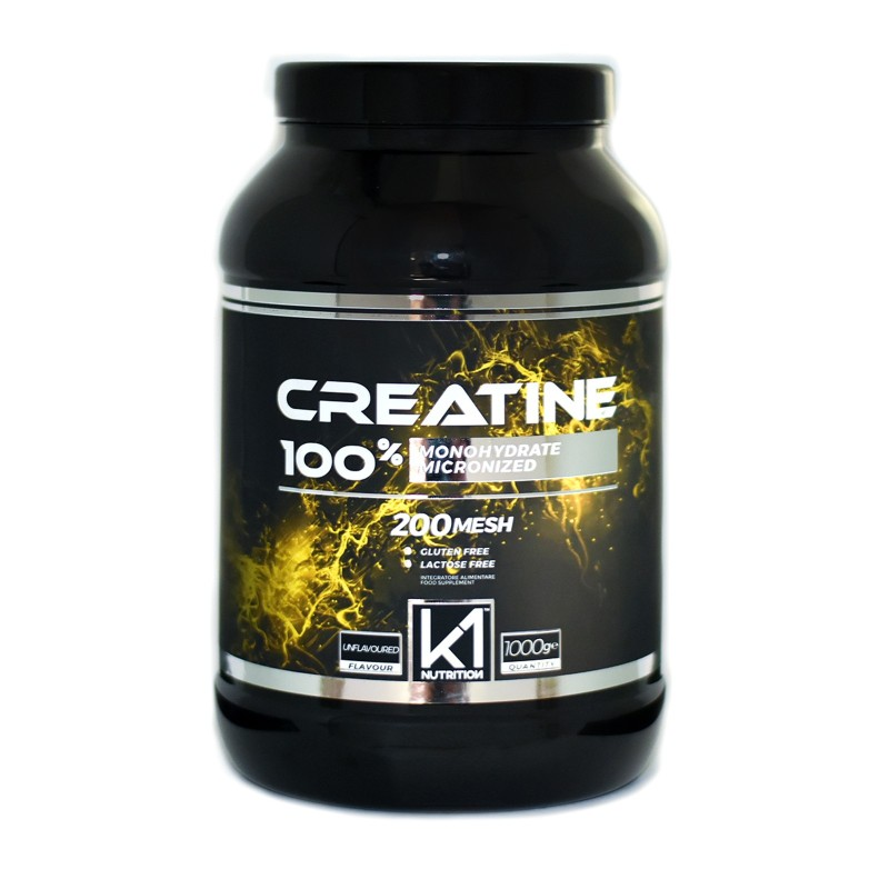 K1 Nutrition 100% Creatine 1 kg Creatina Monoidrato Micronizzata 200 Mesh in vendita su Nutribay.it