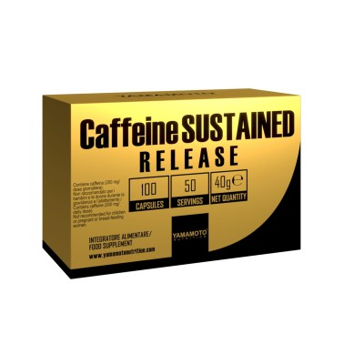 Caffeine SUSTAINED RELEASE di YAMAMOTO NUTRITION - 100 cps - 50 dosi in vendita su Nutribay.it