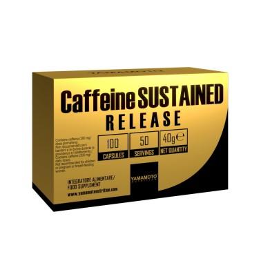 Caffeine SUSTAINED RELEASE di YAMAMOTO NUTRITION - 100 cps - 50 dosi in vendita su Nutribay.it