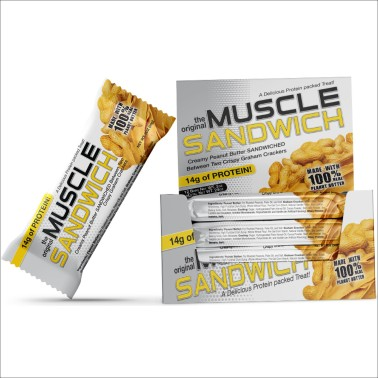 Muscle Foods Muscle Sandwich 12 Barrette Proteiche Gusto Fantastico! - BARRETTE in vendita su Nutribay.it