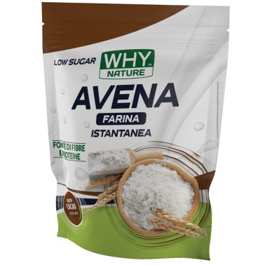 Why Sport 100% INSTANT Farina d'avena Aromatizzata - 1 KG low Sugar in vendita su Nutribay.it