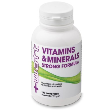 +WATT Vitamins & Minerals Strong Formula 30 - 120 cpr in vendita su Nutribay.it