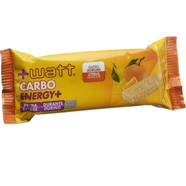 +WATT CARBO ENERGY+ BARRETTA ENERGETICA DA 40 Gr in vendita su Nutribay.it