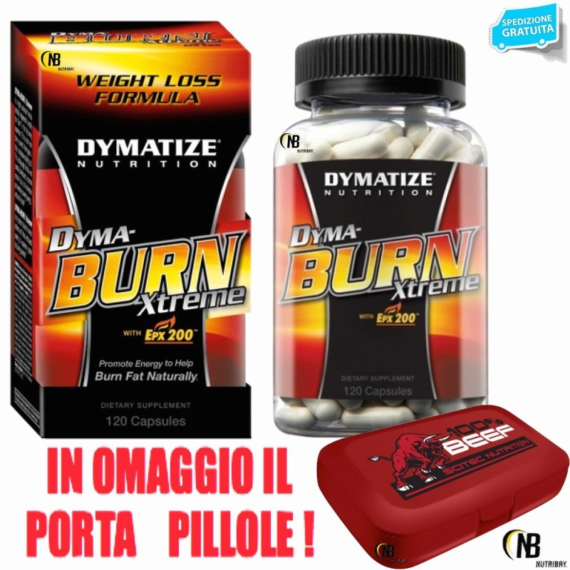 Dymatize Dyma Burn Xtreme 120 cpr. Termogenico Bruciagrassi con Carnitina in vendita su Nutribay.it