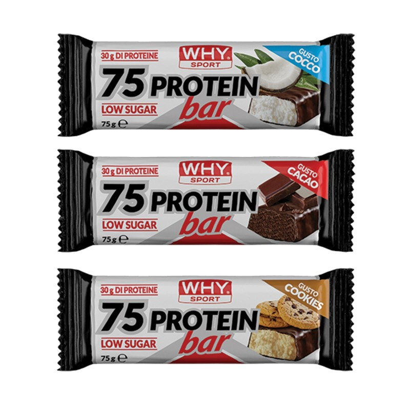 WHY SPORT 75 Protein Bar in vendita su Nutribay.it