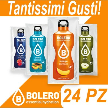 Bolero Drink 24 pz Preparato istantaneo per Bevande Zero Carbo + Stevia in vendita su Nutribay.it