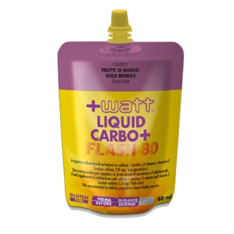 +WATT Liquid Carbo+ FLASH 80 CARBOIDRATI - ENERGETICI in vendita su Nutribay.it