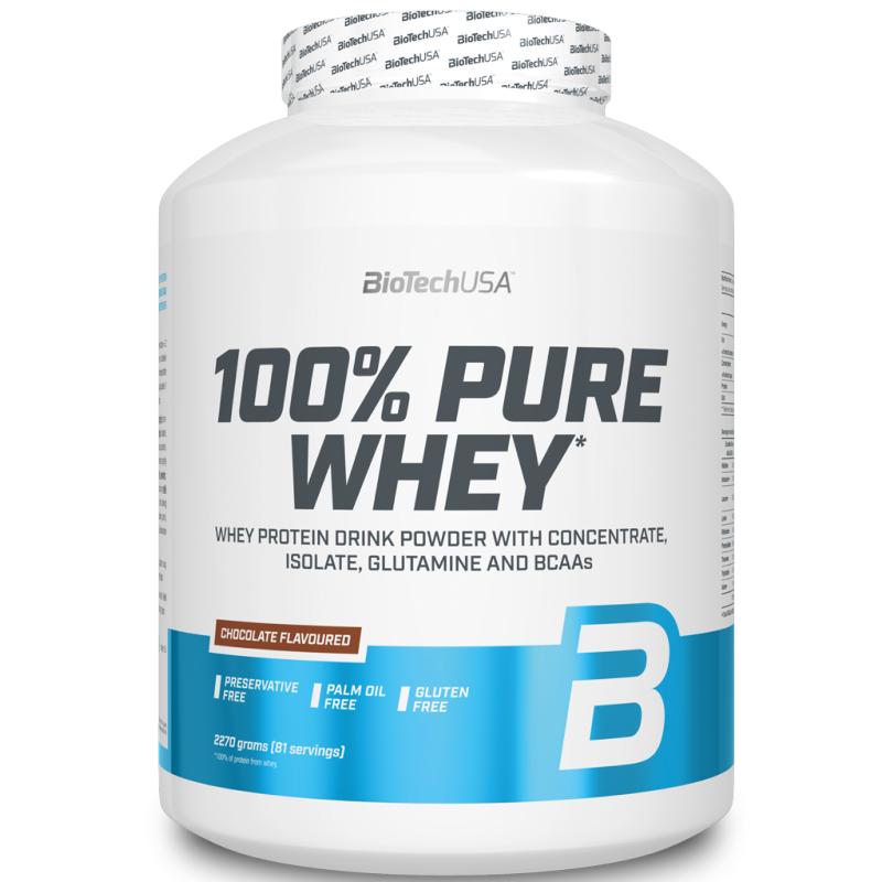 BIOTECH USA 100% Pure Whey 2270 gr Proteine del Siero del Latte Senza Glutine in vendita su Nutribay.it