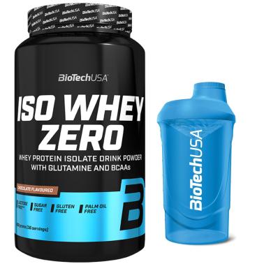 Biotech Iso Whey Zero 908 gr Proteine Isolate Siero del Latte senza Glutine + SHAKER in vendita su Nutribay.it