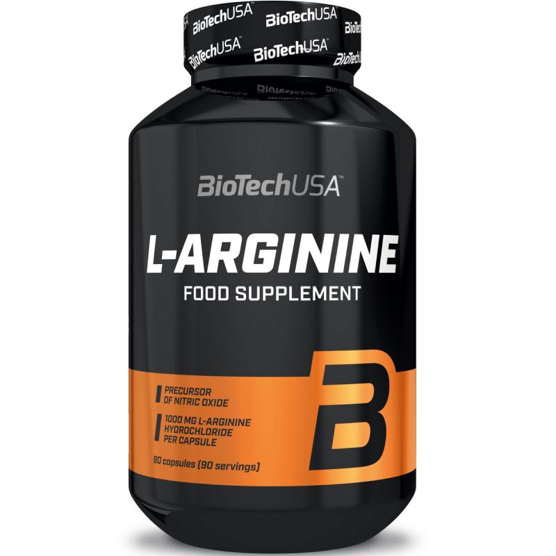 Biotech Usa L-Arginine 90 caps Integratore di Arginina precursore Ossido Nitrico in vendita su Nutribay.it