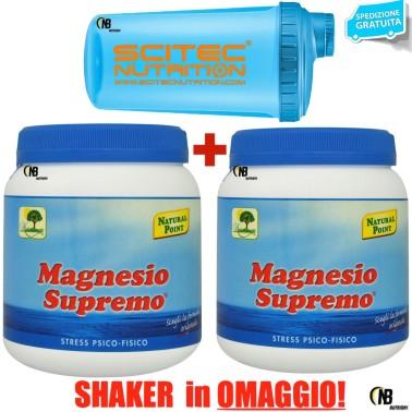 Magnesio Supremo Natural Point 2x 300 gr Minerale Citrato Carbonato Anti Stress