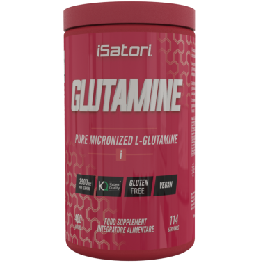 Isatori Glutamine 400 gr. Pura Glutammina Micronizzata qualita' Kyowa in vendita su Nutribay.it