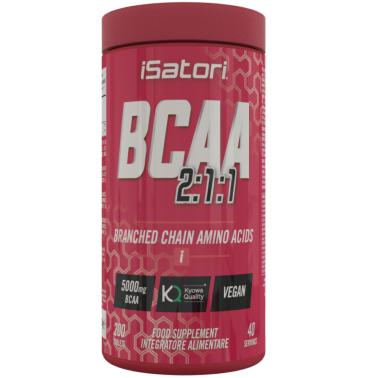 Isatori Bcaa s 200 Aminoacidi Ramificati qualita' Kyowa + Vitamine B3 B6 B12 in vendita su Nutribay.it