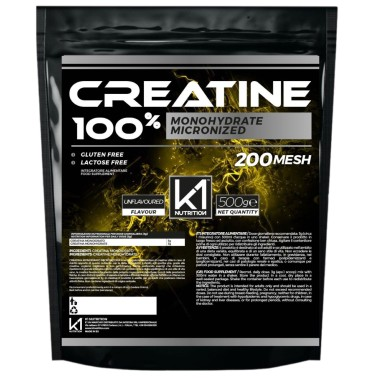K1 Nutrition 100% Creatine 500 gr Creatina Monoidrato Micronizzata 200 Mesh in vendita su Nutribay.it