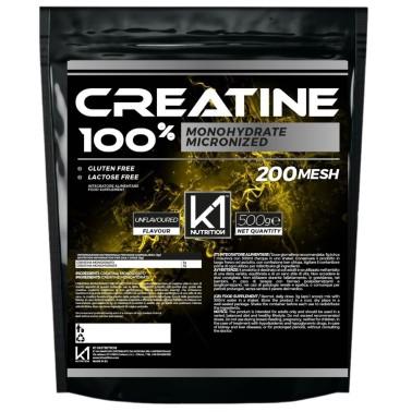 K1 Nutrition 100% Creatine 500 gr Creatina Monoidrato Micronizzata 200 Mesh in vendita su Nutribay.it