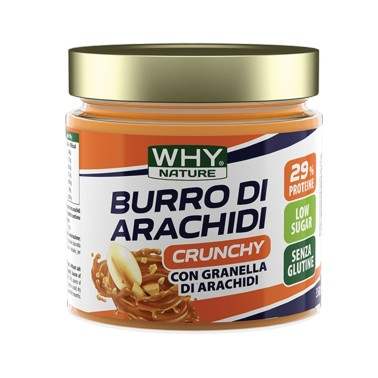WHY SPORT BURRO DI ARACHIDI CRUNCHY 350 gr in vendita su Nutribay.it