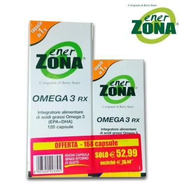 ENERZONA OMEGA 3 RX 120 + 48 CAPS DA 1 gr. SENZA RITORNO DI GUSTO EPA DHA in vendita su Nutribay.it