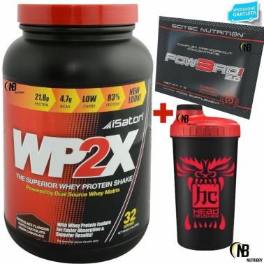 Isatori WP2X 900 gr 100% Whey Proteine del Siero del Latte Isolate + SHAKER bcaa