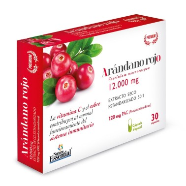 NATURE ESSENTIAL Mirtillo Rosso 30 caps in vendita su Nutribay.it
