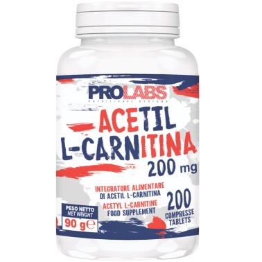 PROLABS Acetil L-Carnitina 200 cps da 200 mg. Carnitina Brucia Grassi Dimagrante in vendita su Nutribay.it
