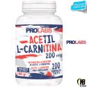 PROLABS Acetil L-Carnitina 200 cps da 200 mg. Carnitina Brucia Grassi Dimagrante in vendita su Nutribay.it