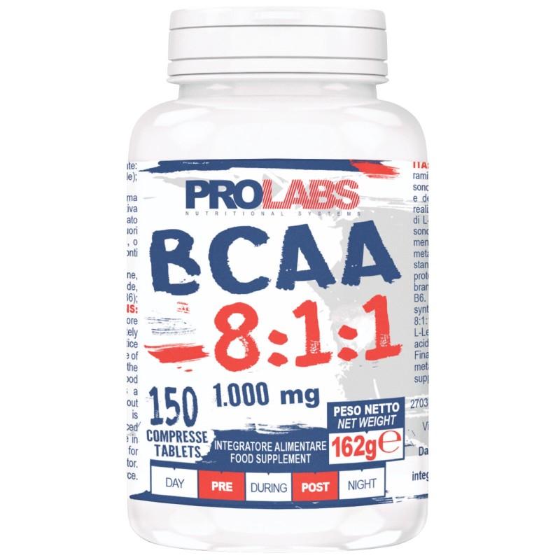 Prolabs BCAA 8:1:1 150 cpr Aminoacidi Ramificati con Extra Leucina 811 + OMAGGIO in vendita su Nutribay.it