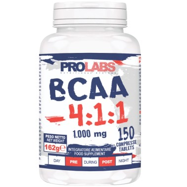 Prolabs BCAA 4:1:1 150 cpr Aminoacidi Ramificati 411 Extra Leucina + Vitamine in vendita su Nutribay.it