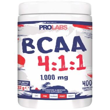 Prolabs BCAA 4:1:1 400 cpr Aminoacidi Ramificati 411 Extra Leucina + Vitamine in vendita su Nutribay.it