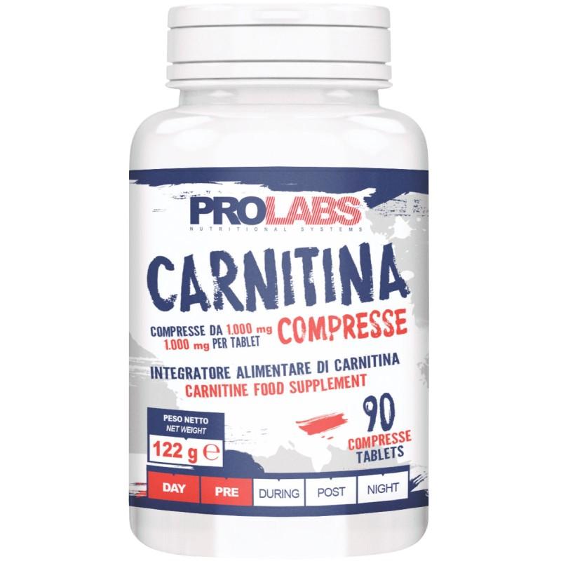 PROLABS Carnitina 90 Compresse L-Carnitina Tartrato da 1 gr 1000 mg Bruciagrassi in vendita su Nutribay.it