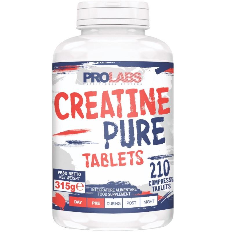 Prolabs CReatine Pure Tablets 210 cpr. Pura Creatina Monoidrato il Compresse in vendita su Nutribay.it