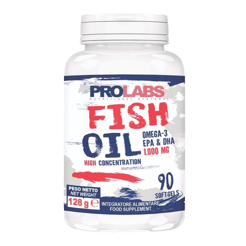Prolabs Fish Oil Omega-3 90 Perle Olio di Pesce EPA DHA Alta Concentrazione in vendita su Nutribay.it