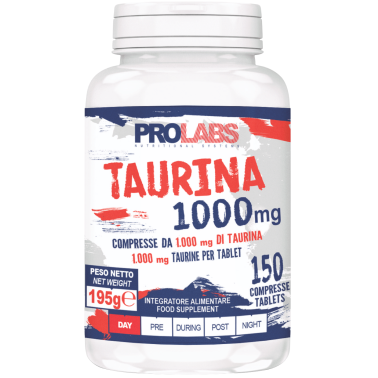 Prolabs Taurina 150 compresse da 1 gr. Integratore di Aminoacido Taurina in vendita su Nutribay.it