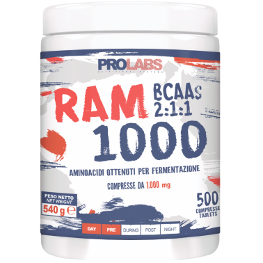 PROLABS Ram 1000 500 Compresse da 1g Aminoacidi Ramificati Bcaa con Vitamina B6 in vendita su Nutribay.it