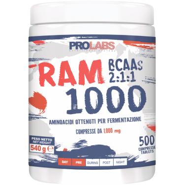 PROLABS Ram 1000 500 Compresse da 1g Aminoacidi Ramificati Bcaa con Vitamina B6 in vendita su Nutribay.it