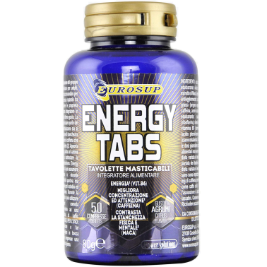 Eurosup Energy tabs 50 cpr. Tonico con Vitamine Taurina e Maca Gusto Agrumi in vendita su Nutribay.it