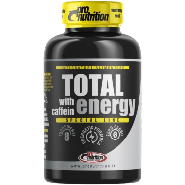 Pronutrition Total Energy 60 cps. Energetico con caffeina e taurina in vendita su Nutribay.it