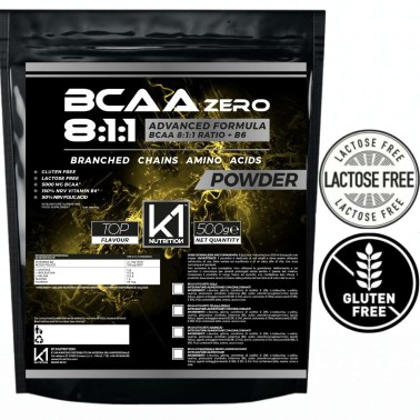 K1 Nutrition BCAA ZERO POWDER 8:1:1 500 gr Advanced Formula con Vitamina B6 in vendita su Nutribay.it