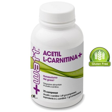 +WATT ACETIL L-CARNITINA ALC 75cpr DA 1,4gr efficace BRUCIA GRASSI dimagrante in vendita su Nutribay.it