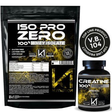 K1 Nutrition ISO PRO ZERO 1 KG Proteine Isolate GLUTEN FREE + 100 gr Creatina in vendita su Nutribay.it