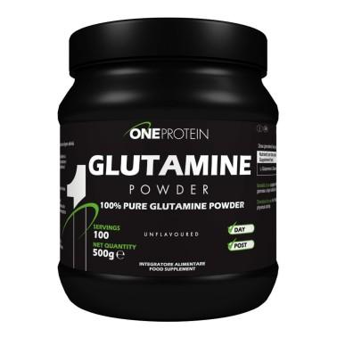 ONE PROTEIN Glutamine Powder 500 grammi in vendita su Nutribay.it