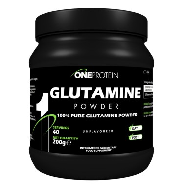 ONE PROTEIN Glutamine Powder 200 grammi in vendita su Nutribay.it