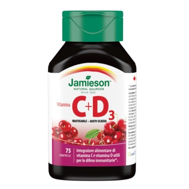 JAMIESON Vitamina C + D3 masticabile ciliegia 75 cpr in vendita su Nutribay.it