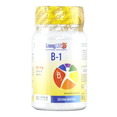LONG LIFE B-1 50mg 100 compresse in vendita su Nutribay.it