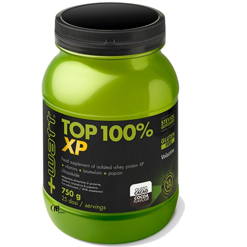 +Watt Top 100 % XP Whey Proteine Siero del Latte Isolate + Enzimi e Vitamine in vendita su Nutribay.it