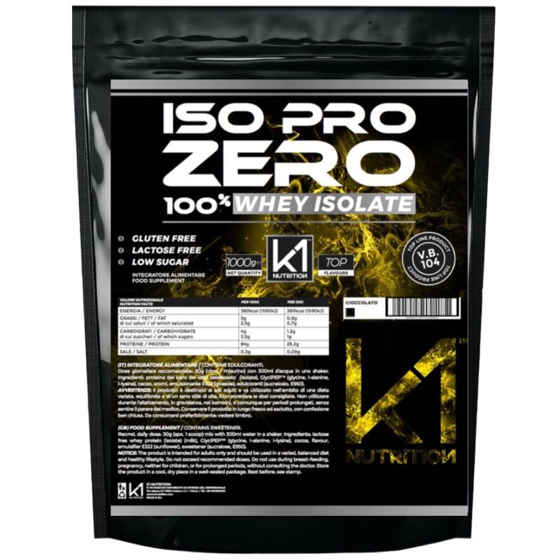 K1 Nutrition ISO PRO ZERO 1 Kg Proteine 100% Whey Isolate con Vb104 in vendita su Nutribay.it