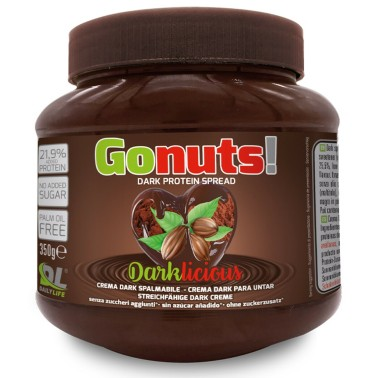 Go Nuts Darklicious 350 gr Cioccolata Fondente Proteica Crema Spalmabile GONUTS in vendita su Nutribay.it