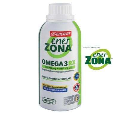 ENERZONA OMEGA 3 RX 240 CAPSULE DA 1 gr. SENZA RITORNO DI GUSTO EPA DHA in vendita su Nutribay.it