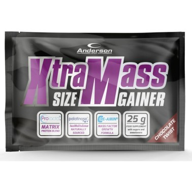 Anderson Xtra Mass 25 gr Gainer di Proteine Whey Creatina Arginina Tribulus in vendita su Nutribay.it