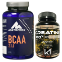 MULTIPOWER BCAA 300 cpr Aminoacidi Ramificati + Vitamine b1 b6 + Creatina K1 in vendita su Nutribay.it