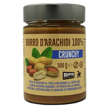 BPR NUTRITION Burro D'Arachidi 100% CRUNCHY 300 gr in vendita su Nutribay.it